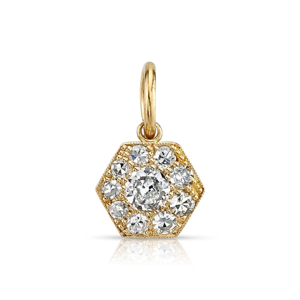 MINI HEXAGONAL COBBLESTONE CHARM - SINGLE STONE