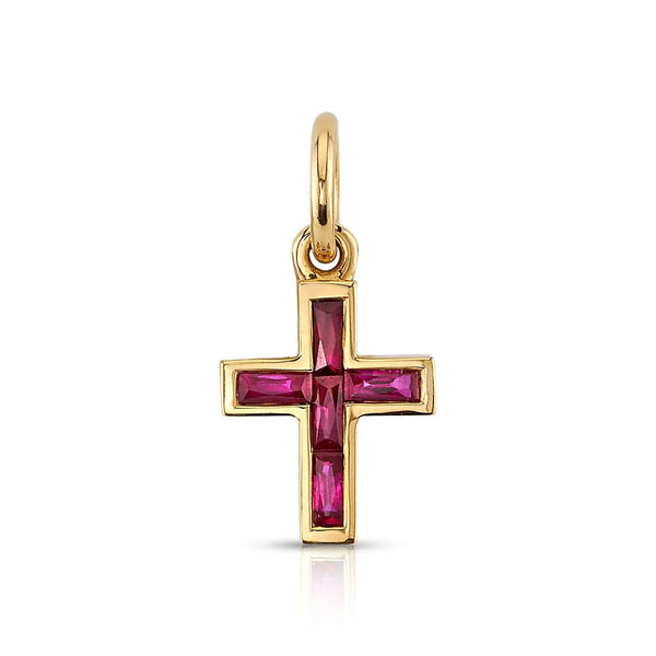 MINI FRENCH CUT CARMELLA CROSS WITH GEMSTONES