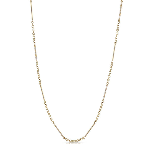 DASH CHAIN WITH DIAMONDS - SINGLE STONE