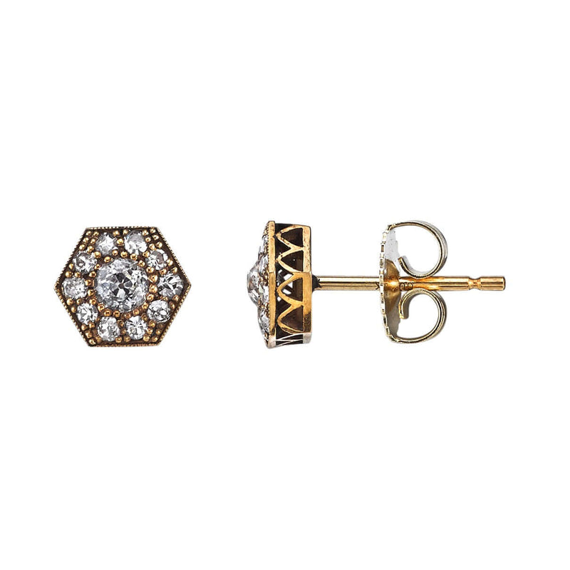 MINI HEXAGON COBBLESTONE STUDS - SINGLE STONE