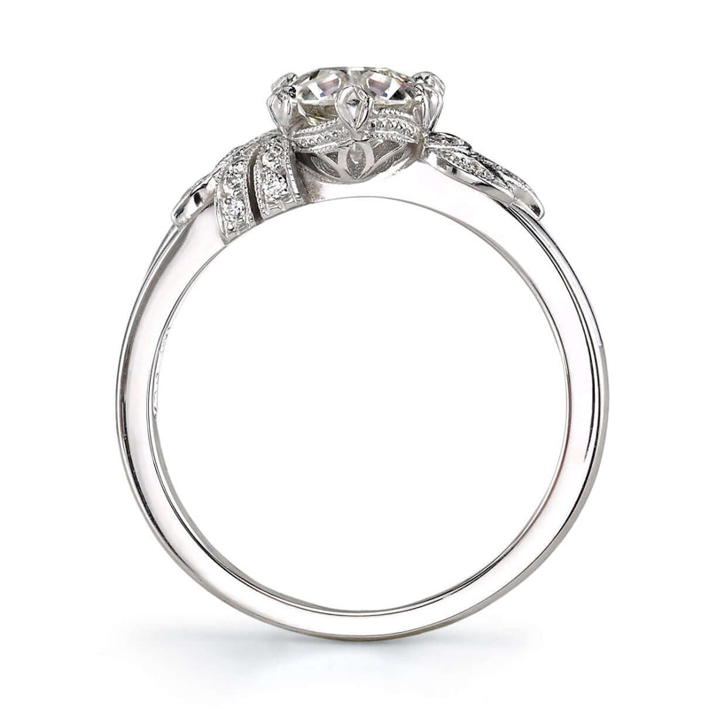 PROFILE VIEW OF PLATINUM DIAMOND RING | SINGLE STONE