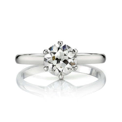 1.00CT OLD EUROPEAN CUT DIAMOND PRONG SET IN A PLATINUM MOUNTING | SINGLE STONE