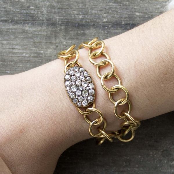 COBBLESTONE WRAP BRACELET - SINGLE STONE