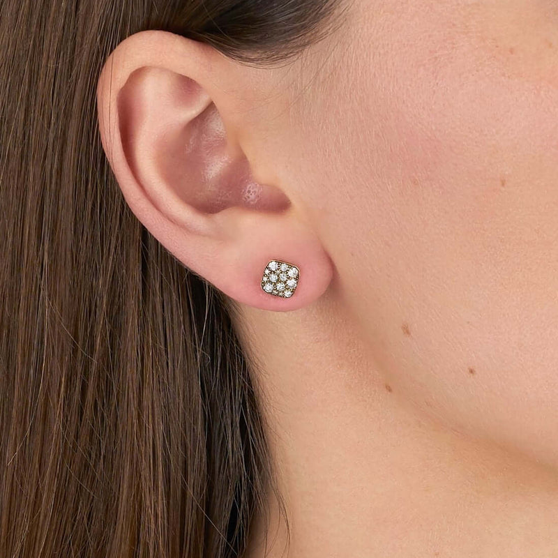 MINI SQUARE COBBLESTONE STUDS