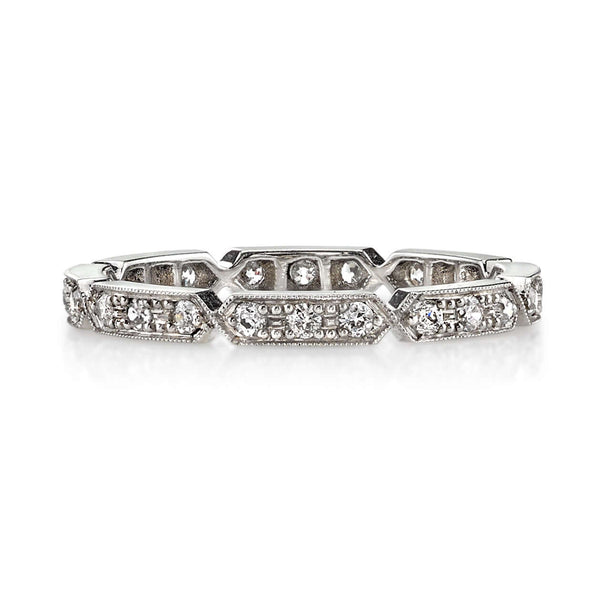 0.30CTW OLD EUROPEAN CUT DIAMONDS SET IN A PLATINUM ETERNITY BAND | SINGLE STONE