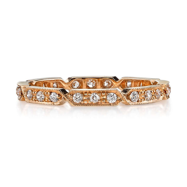 0.30CTW OLD EUROPEAN CUT DIAMONDS SET IN AN 18K ROSE GOLD ETERNITY BAND | SINGLE STONE