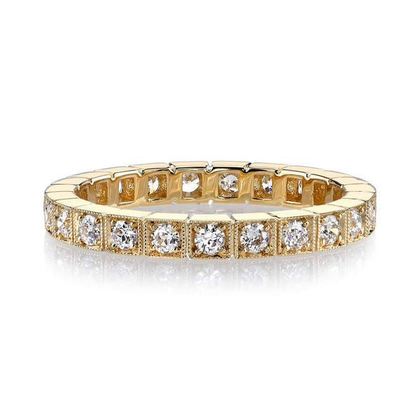 0.60CTW OLD EUROPEAN CUT DIAMONDS IN AN 18K YELLOW GOLD BEZEL SET ETERNITY BAND | SINGLE STONE