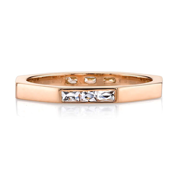 OCTAGONAL 18K ROSE GOLD RING WITH 0.38CT FRENCH CUT DIAMONDS | SINGLE STONE