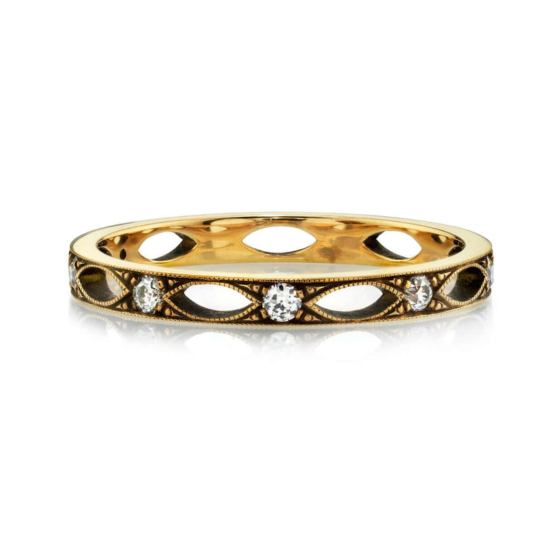 18k YELLOW GOLD ETERNITY BAND WITH 0.20CT OLD EUROPEAN CUT DIAMONDS | SINGLE STONE