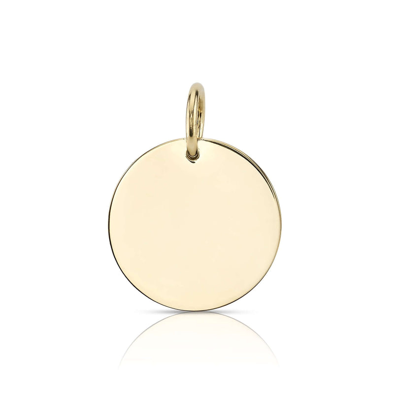 15MM ROUND DISC - SINGLE STONE