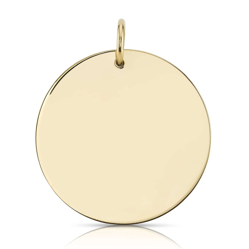 30MM ROUND DISC - SINGLE STONE