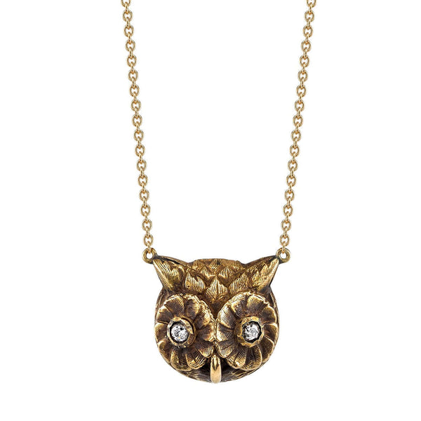 OWL PENDANT - SINGLE STONE
