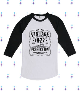 Made in 1977 Sweatshirt Born in 1977 Aged to Perfection Birthday Sweatshirt