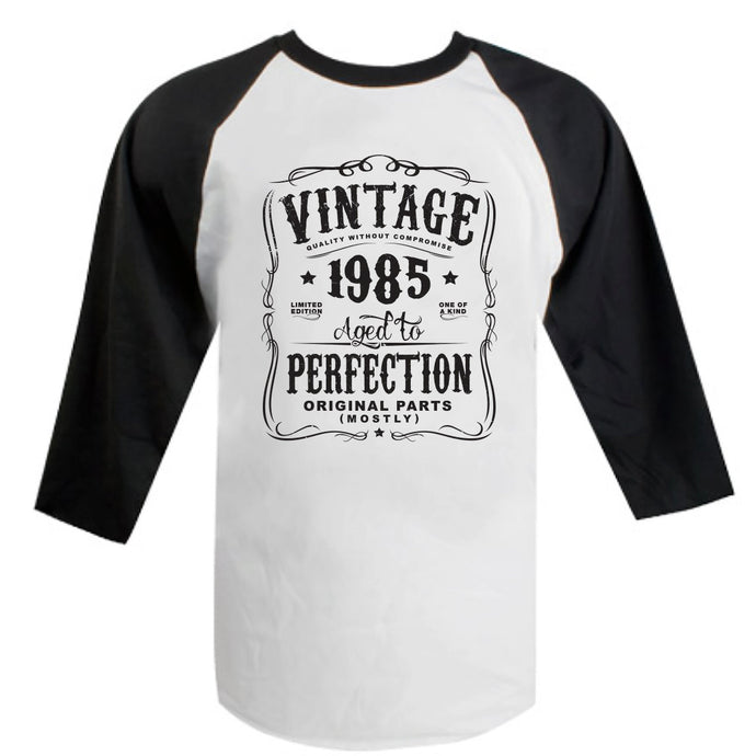 34th Birthday Present Gift Year 1985 Aged To Perfection Womens Funny T-Shirt Old