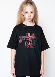 "BLACK ""THXXK YOU"" T-SHIRT"