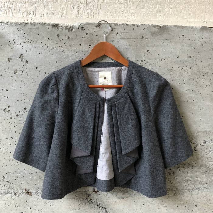 Eleveness (Anthropologie) Gray Wool Capelet