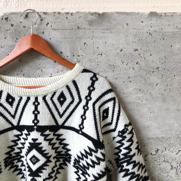 Hi-low Aztec Sweater