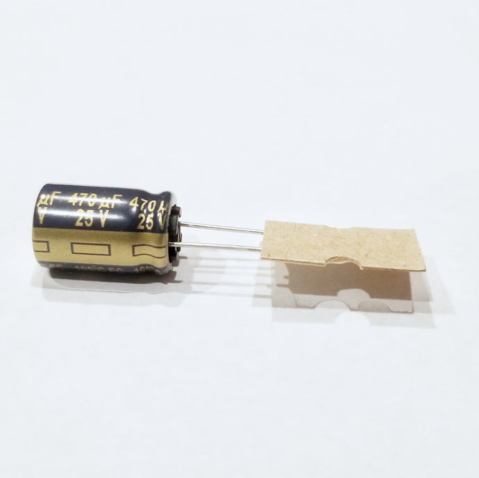 Panasonic 470uF 25v Low ESR Capacitors for ESC Noise Reduction - Wicked Quads