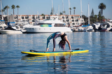 Yoga sup in Mission Bay, CA