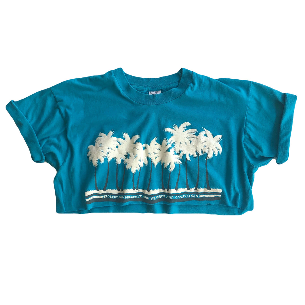 VINTAGE TROPICAL CROP TEE