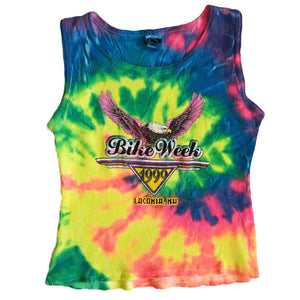 VINTAGE 90'S TIE DYE BIKE WEEK TANK