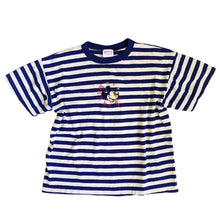 VINTAGE MICKEY STRIPED EMBROIDERED TEE