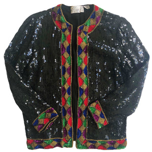 VINTAGE SEQUIN EMBELLISHED JACKET
