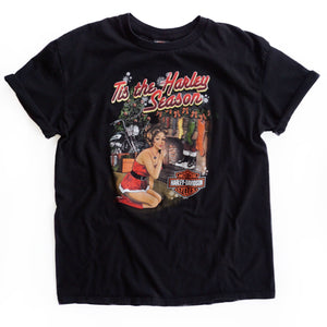 VINTAGE 'TIS THE HARLEY SEASON TEE