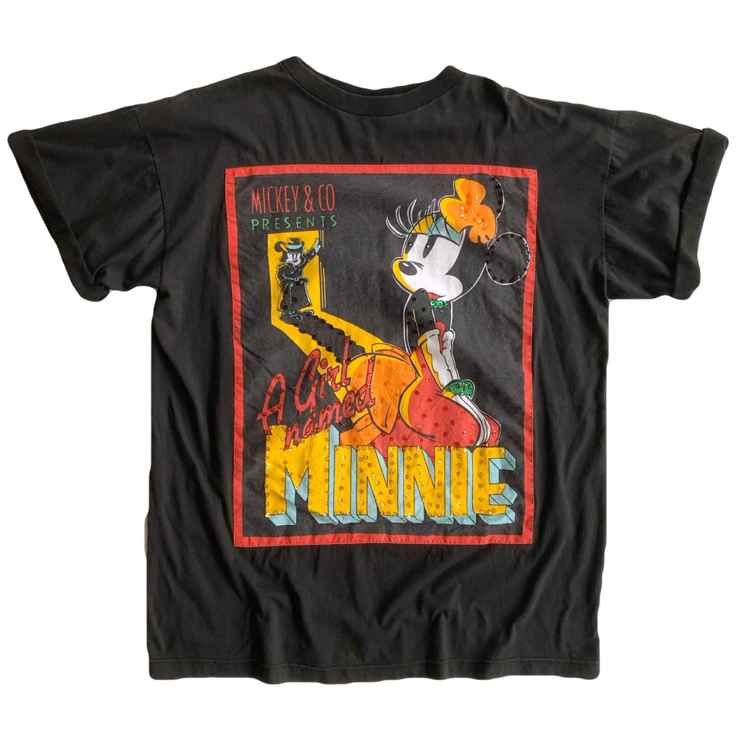 VINTAGE EMBELLISHED A GIRL NAMED MINNIE TEE