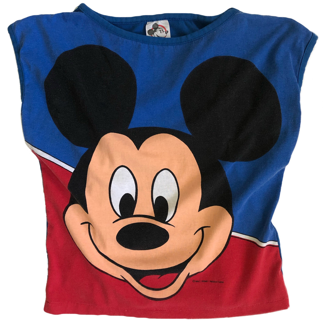 VINTAGE 80'S MICKEY COLORBLOCK TANK