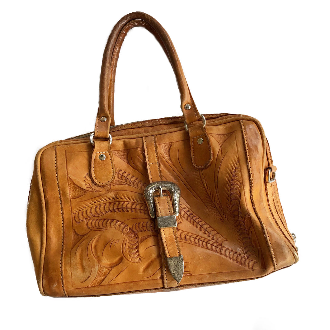 VINTAGE TOOLED WESTERN BAG