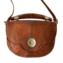 VINTAGE 70'S LEATHER CROSSBODY BAG