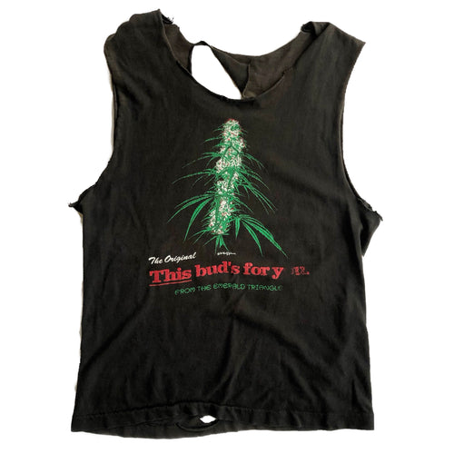 VINTAGE THIS BUDS FOR YOU TRASHED TANK