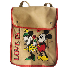 VINTAGE 70'S MICKEY & MINNIE LOVE IS SLING BACKPACK