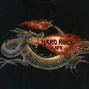 VINTAGE YIN YANG HARD ROCK DRAGON CROP TANK