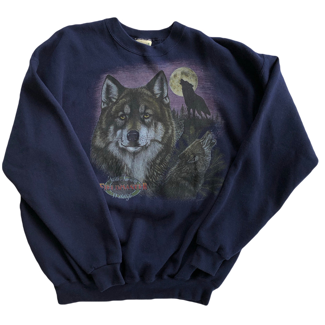 VINTAGE MOONLIGHT WOLF CREWNECK