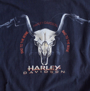 VINTAGE HARLEY BAD TO THE BONE TEE