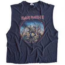 VINTAGE IRON MAIDEN DISTRESSED MUSCLE TEE