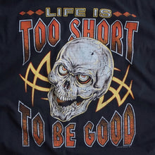 VINTAGE 90'S LIFES TOO SHORT SKULL TEE