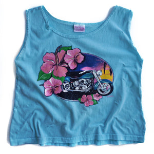 VINTAGE SEA BREEZE CROP TANK