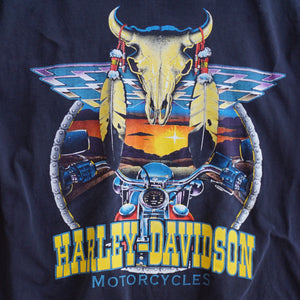 VINTAGE HARLEY RIDE INTO THE SUNSET TEE