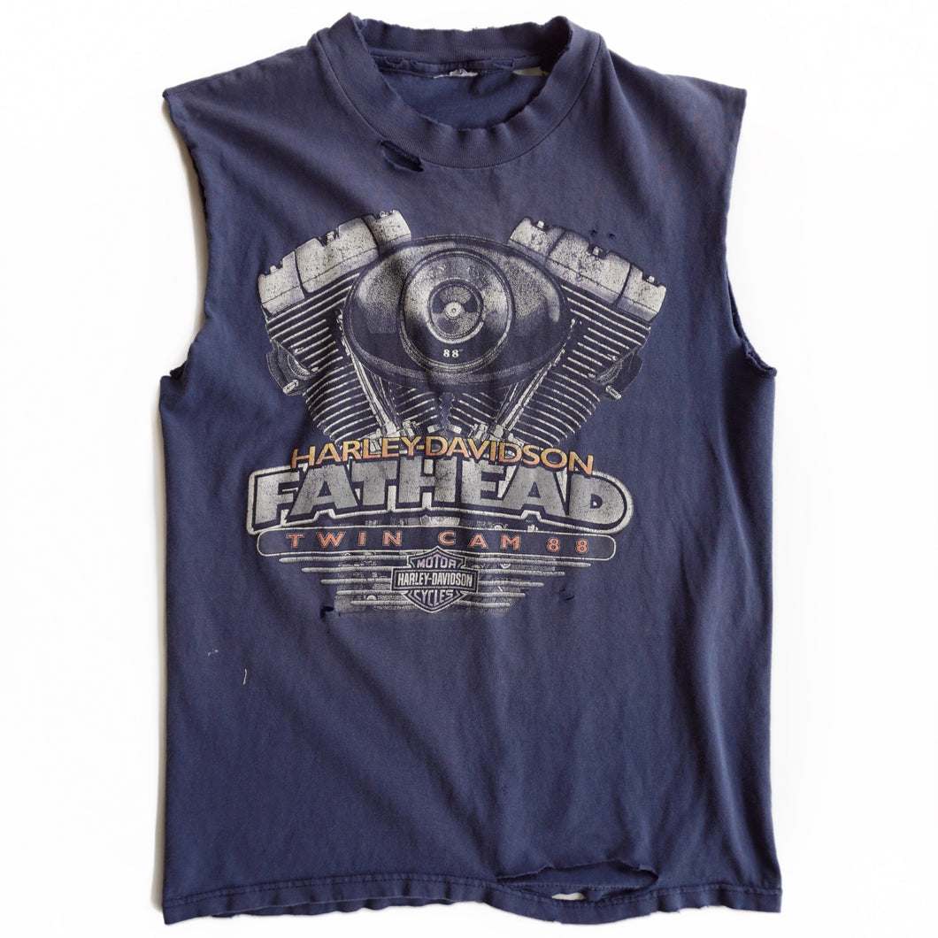 VINTAGE DISTRESSED HARLEY MUSCLE TEE