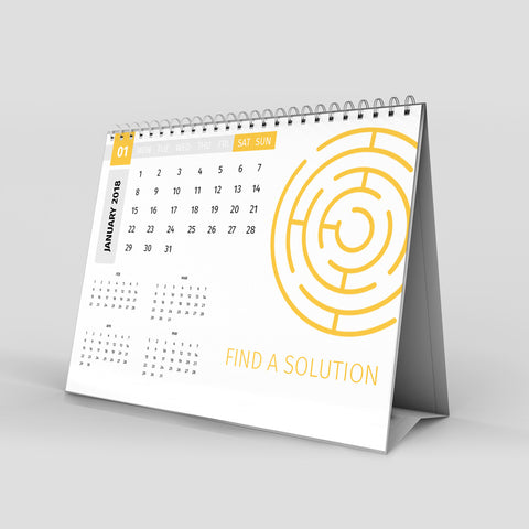 Alpha Production desk calendar