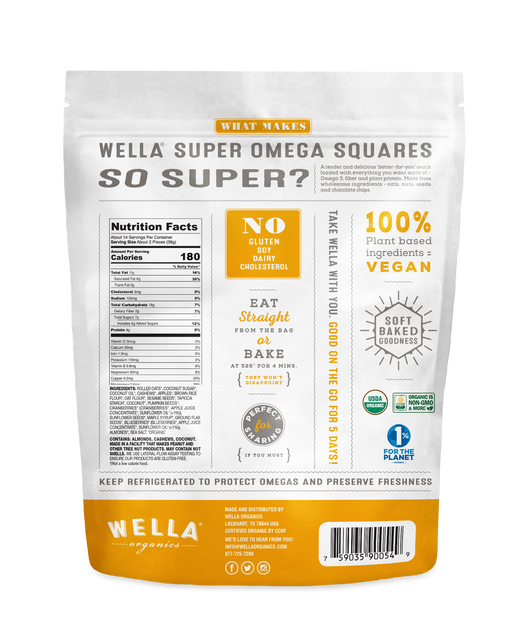 Super Omega Squares Chocolate Chip
