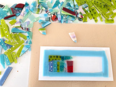 recycling glass to make one of a kind jewellery