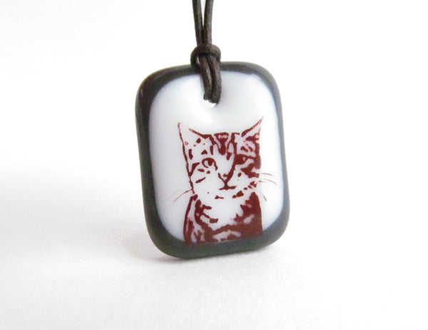 Grey and white tabby cat gift