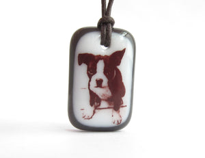 Boston Terrier Pup Necklace