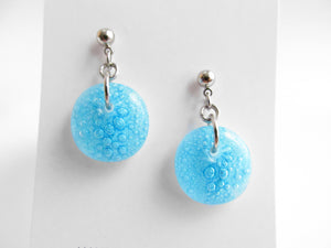 Aqua Bubble Drop Earrings - One-of-a-Kind