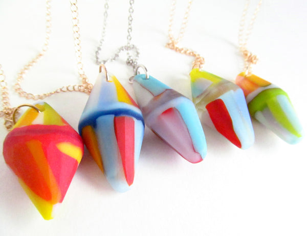 assortment of new handmade necklaces