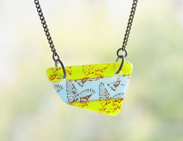 Flying Bird Necklaces on Brass Chain